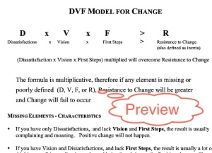 Preview DVF Model (1 page handout download)
