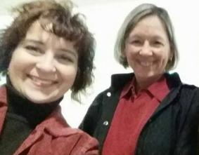 Deb Nystrom & Jolene Knapp, at Wayne State University, 2015