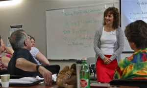 Deb Nystrom, Bullying at Work facilitator, with the Center for Independent Living group