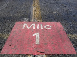 Mile marker, photo: Jesus Villanueva Flickr cc