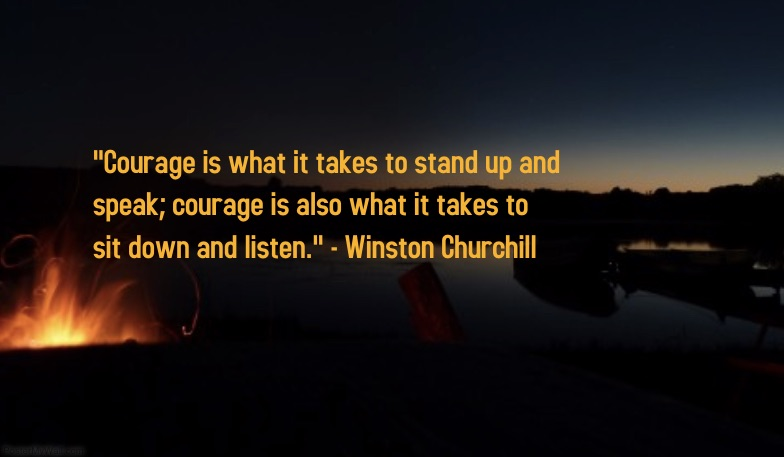 Campfire Courage Quote pic