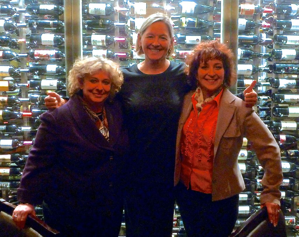 Deb (right) with Jean Frankel (left) and Jolene Knapp (middle) with Ideas for Action, April 2015