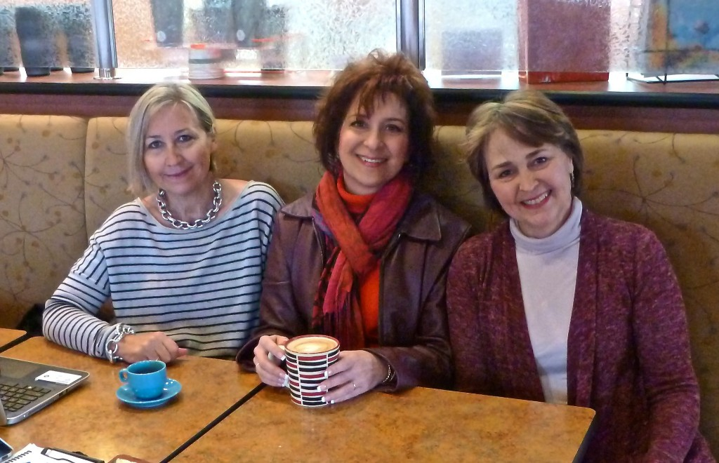 Professional coaches: Nadine Henry, Deb Nystrom (REVELN Consulting and Ideas for Action, LLC), and Nan Reed Twiss at Coach Café, Ann Arbor, Michigan.